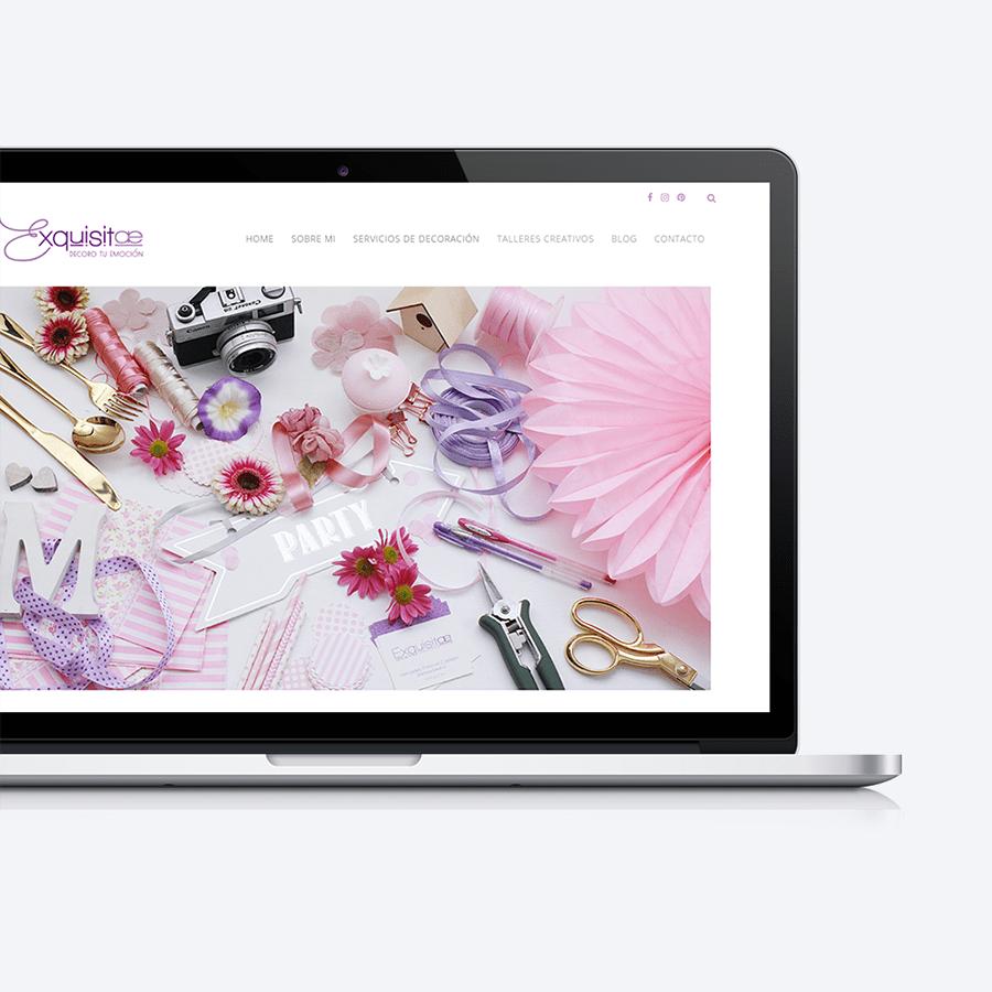Diseño responsive de Exquisitae, decoracion de eventos, talleres florales y detalles únicos, Palma de Mallorca, Islas Baleares