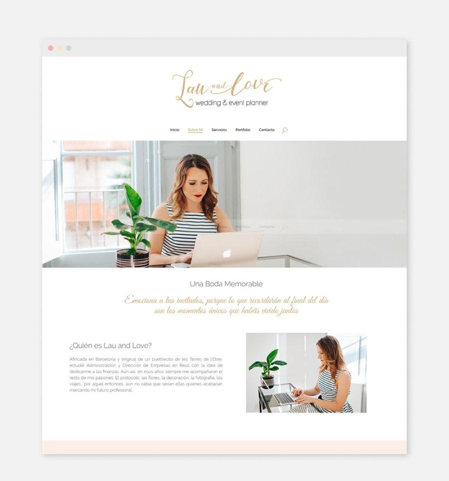 Diseño web para organizadores de bodas y eventos: Lau and Love, wedding and event planner de Barcelona, Cataluña