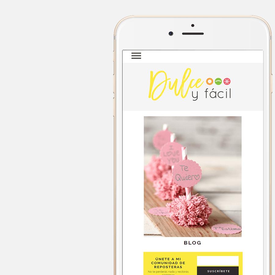 Diseño Responsive de Dulce y Fácil, blog de repostería creativa en Barcelona, Cataluña, España