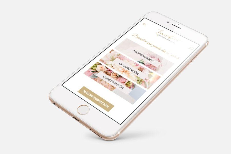 Diseño Responsive para web de bodas: Lau and Love, wedding and event planner de Barcelona, Cataluña
