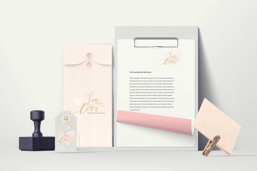 Identidad corporativa de Lau and Love, wedding and event planner de Barcelona, Cataluña