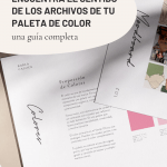 Encuentra el sentido de los archivos de tu paleta de color