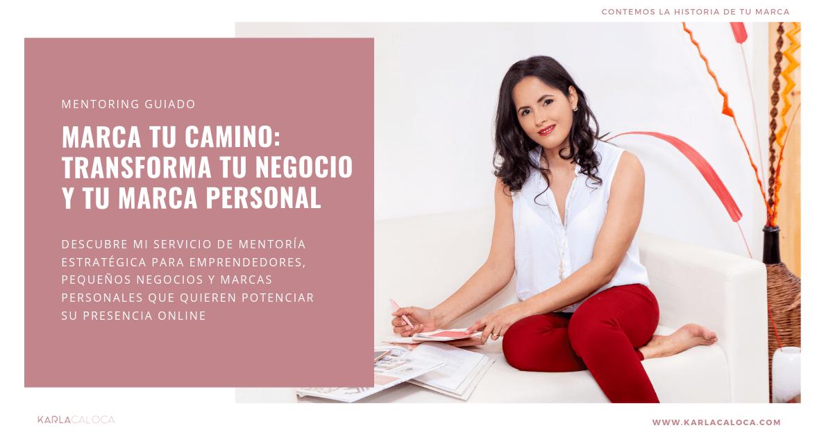 Mentoring guiado: programa marca tu camino, transforma tu negocio y tu marca personal