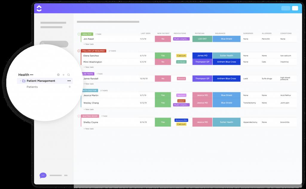 herramientas de gestion de proyectos click up