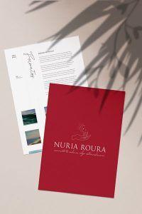 Karla Caloca, Servicios de diseño de identidad visual corporativa y diseño web profesional: Nuria Roura coach alimentacion consciente y astrologia terapeutica 2