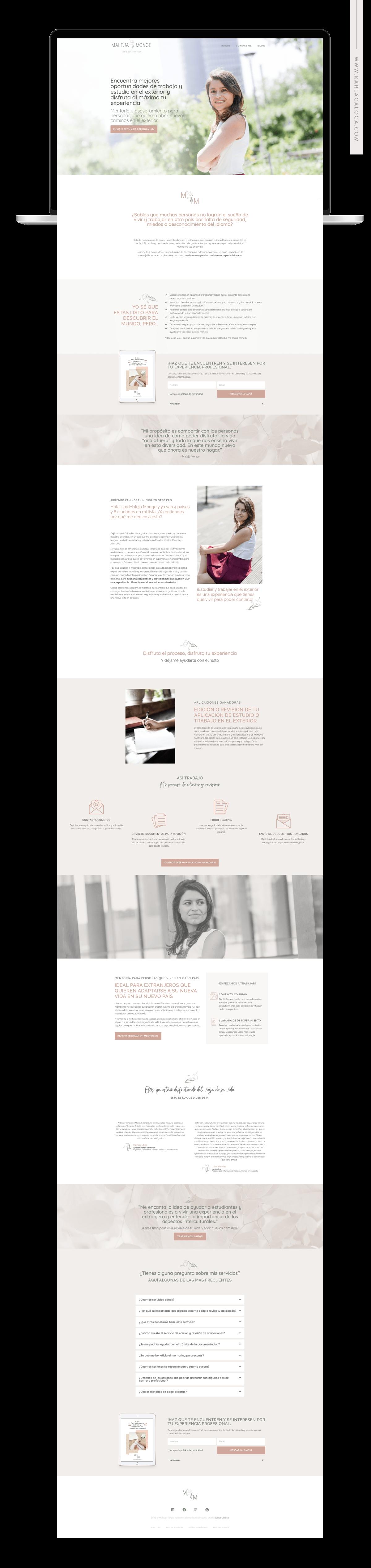 Maleja Monge es una mentora para profesionales y estudiantes que quieren vivir una experiencia diferente e enriquecedora en el exterior.