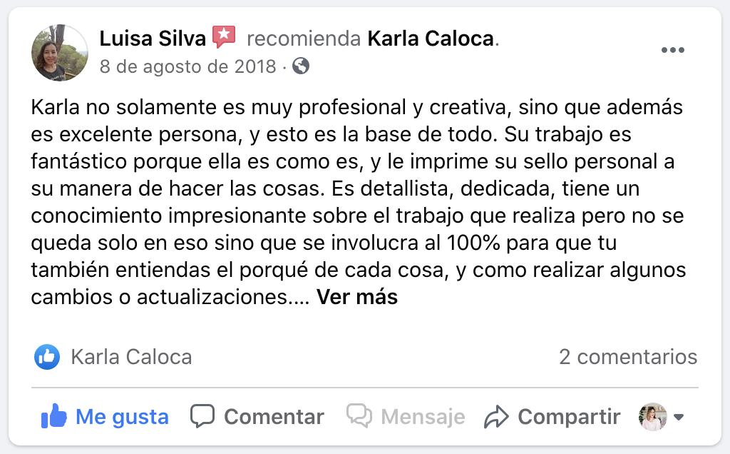 Testimonial Luisa