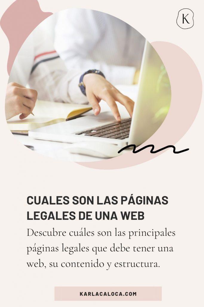 cuáles son las páginas legales de una web online, su contenido y estructira