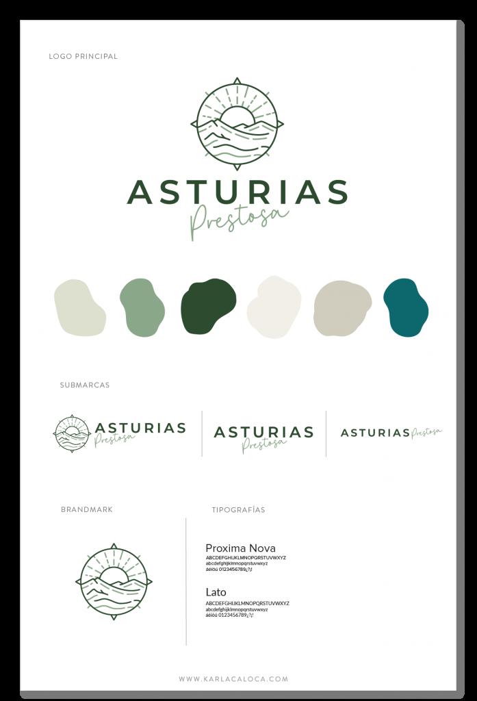 AsturiasPrestosa portfolio Brand Board